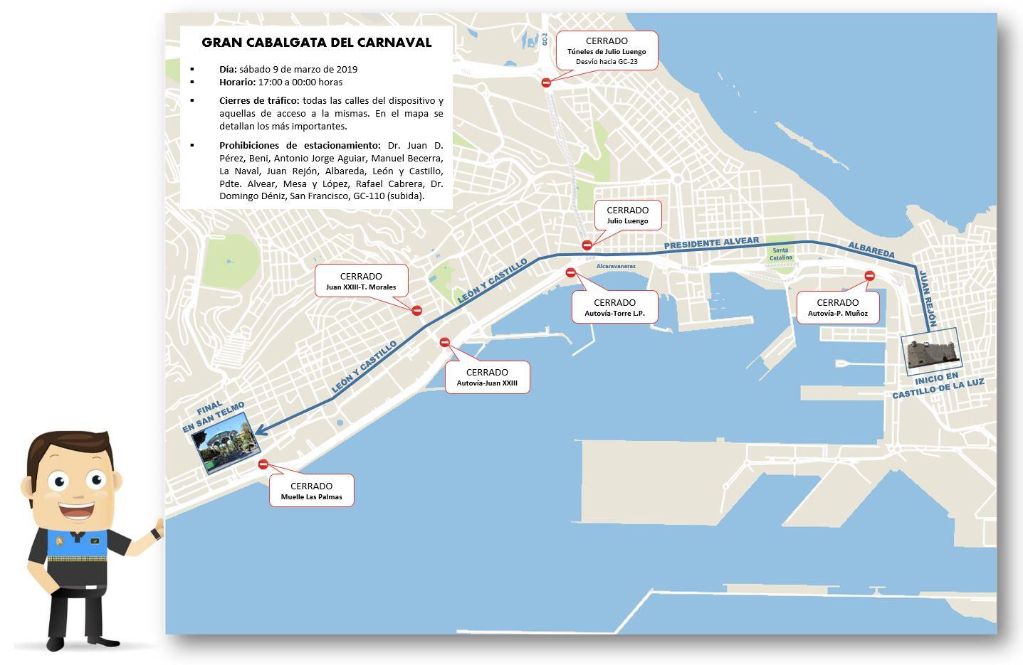 Mapa De Las Palmas De Gran Canaria Calles.La Policia Local Programa Los Dispositivos Especiales De